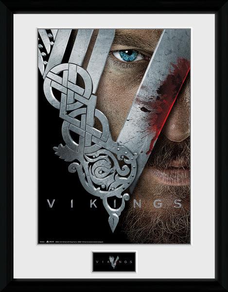 Poster enmarcado Vikings - Keyart