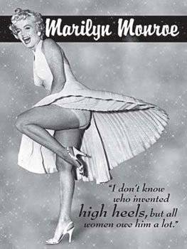 MARILYN MONROE HIGH HEELS Metalplanche