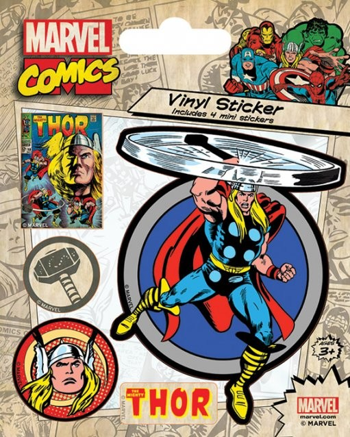 Marvel Comics - Thor Retro Autocolant