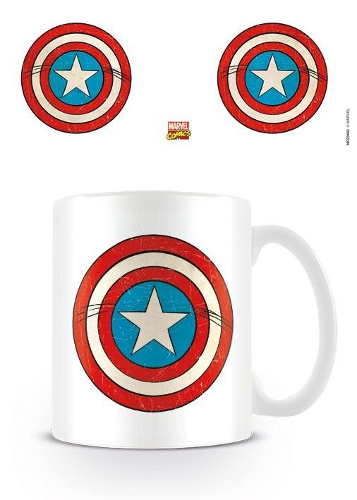 Hrnek Marvel Retro - Captain America Sheild