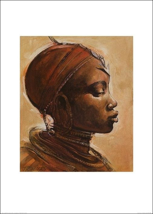 Masai woman I. Festmény reprodukció