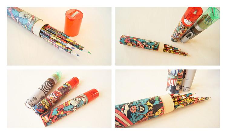 Star Wars (Gwiezdne wojny) - Lightsaber Pencil Tube Materiały Biurowe