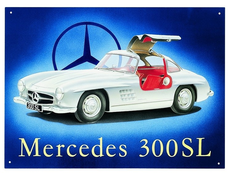 MERCEDES 300SL GULLWING Metalplanche