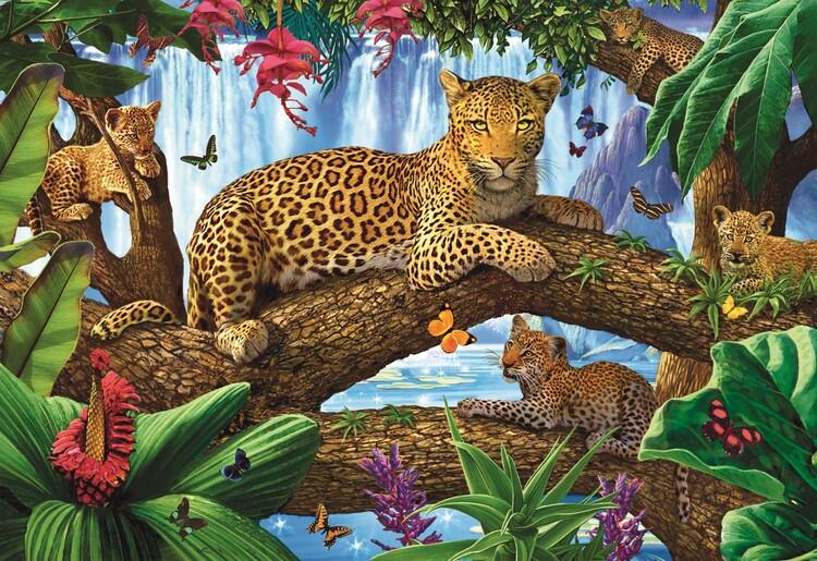 Puzzle Odpočinek v korunách stromů