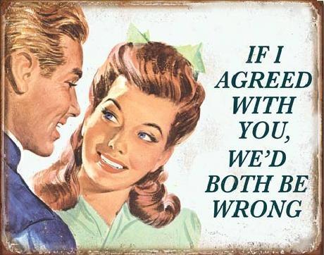 Plåtskylt If I Agreed With You