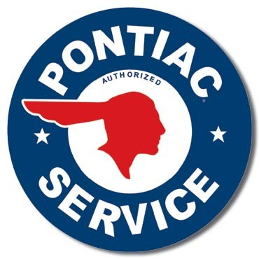 Plåtskylt PONTIAC SERVICE