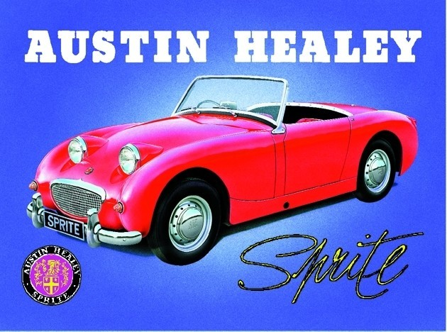 Metallschild AUSTIN HEALEY SPRITE