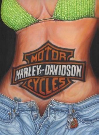 Metallschild CAROLINE STURGIS - harley davidson