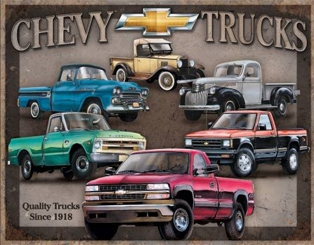 Metallschild Chevy Trucks Tribute