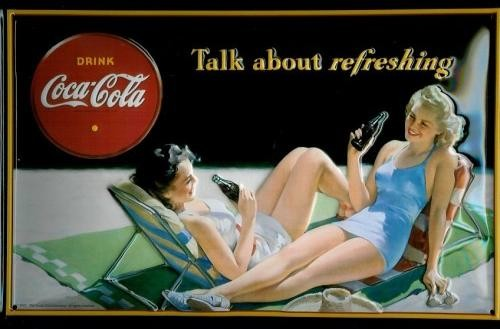 Metallschild COCA COLA - TALK ABOUT IT 3D