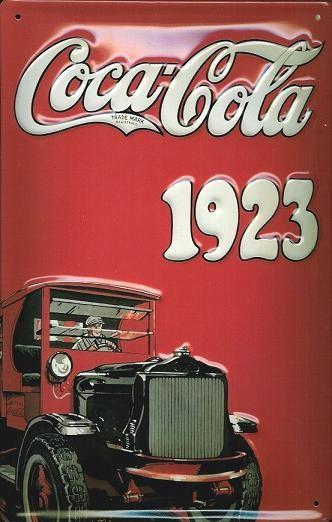 Metallschild COCA COLA - TRUCK 3D