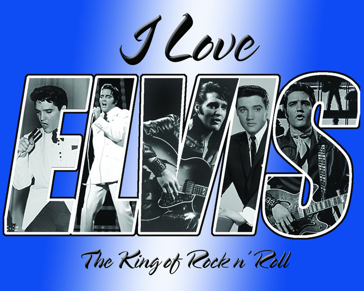 Metallschild ELVIS PRESLEY - i love elvis