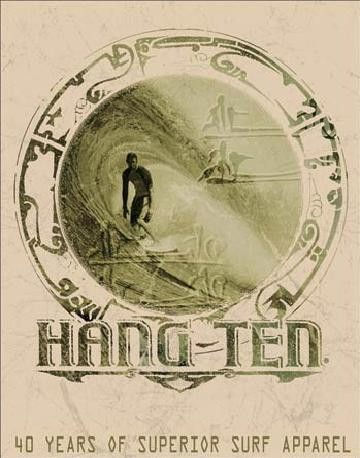 Blechschilder HANG TEN - good fortune