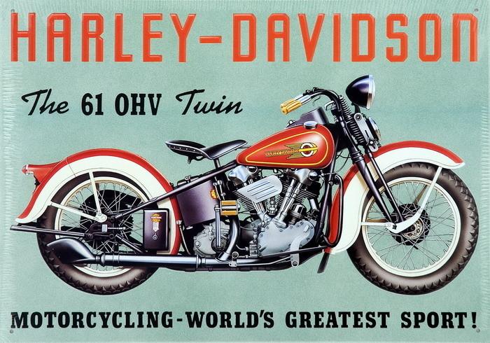 Metallschild HARLEY DAVIDSON - TWIN