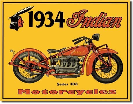 Blechschilder INDIAN - motorcycles