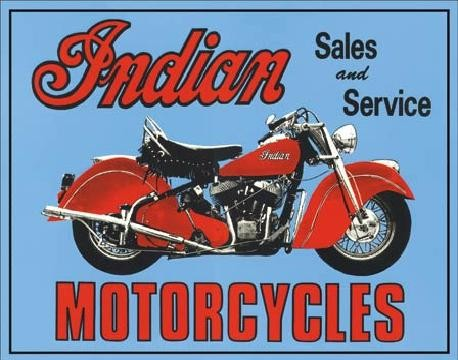 Blechschilder INDIAN - sales and service