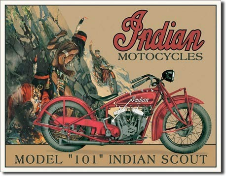 Metallschild INDIAN - scout
