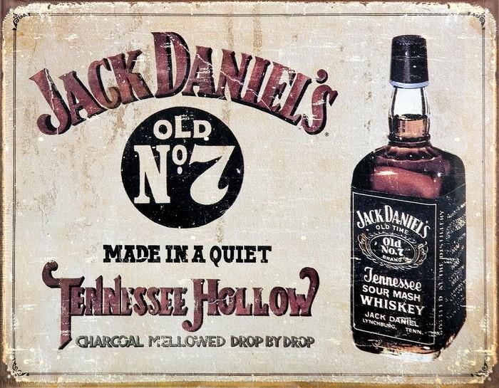 Metallschild JACK DANIEL'S  TENNESSEE