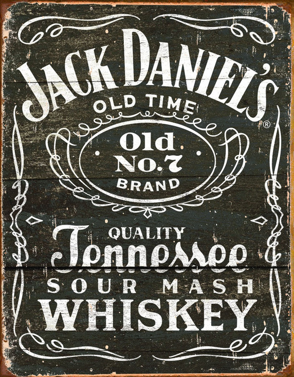 Metallschild JACK DANIEL'S  VINTAGE LABEL