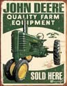 Metallschild JOHN DEERE SOLD HERE