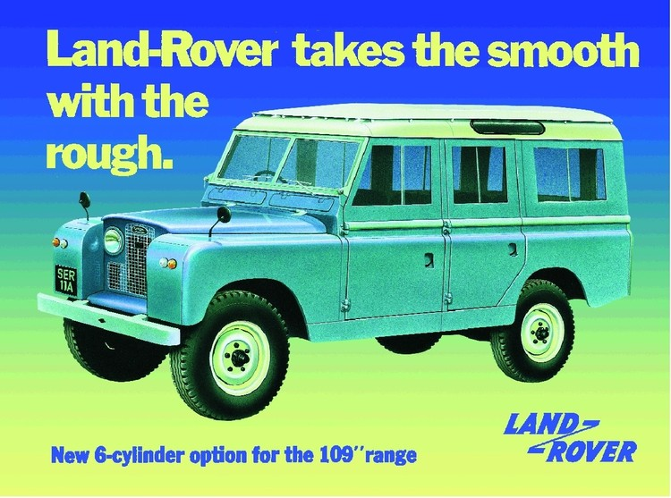 Metallschild Land Rover series 2A
