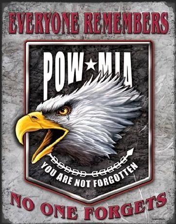 Metallschild LEGENDS - pow eagle