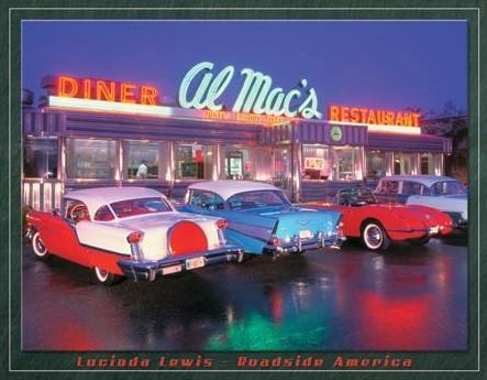Metallschild Lewis - Al Mac Diner