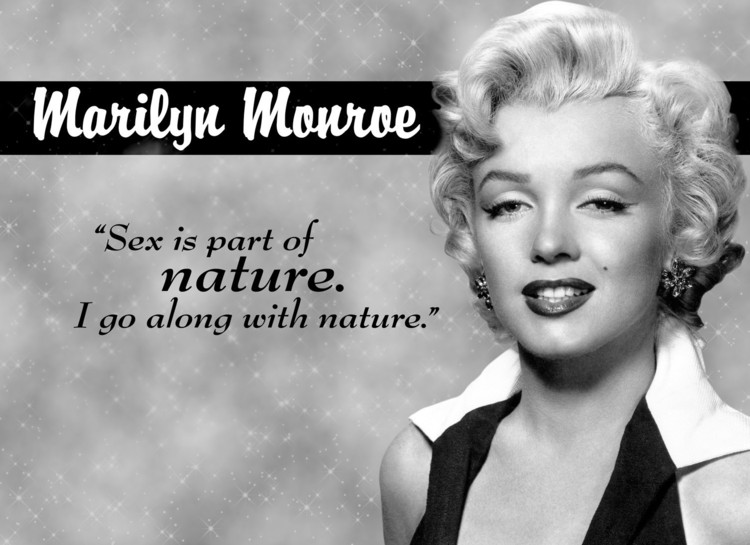 Metallschild MARILYN MONROE NATURE