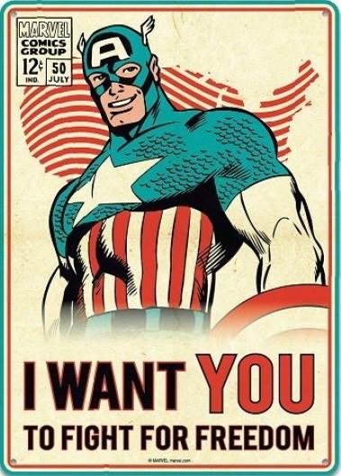 Blechschilder  Marvel - Captain America