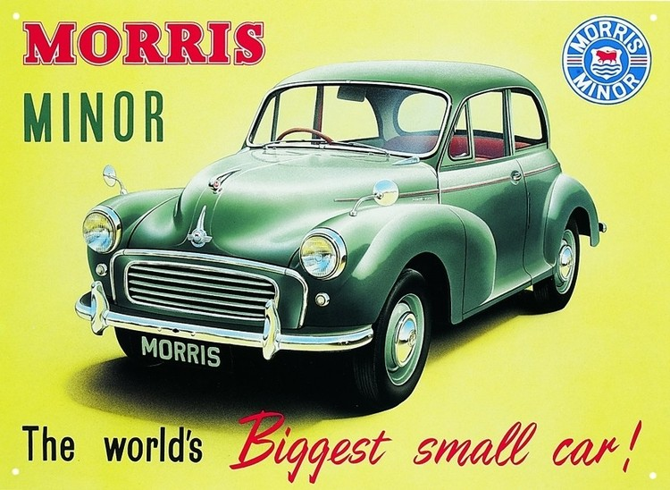 Metallschild Morris minor 1000