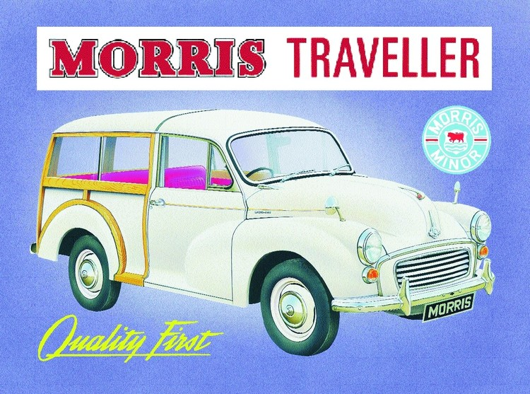 Metallschild Morris traveler