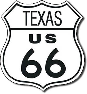 Blechschilder  ROUTE 66 - texas