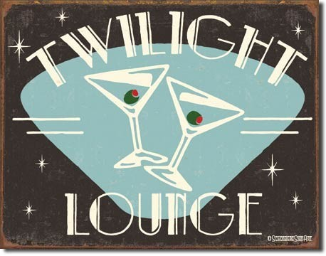 Metallschild SCHOENBERG - twilight lounge