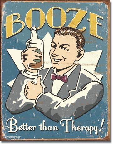 Metallschild SCHONBERG - booze therapy