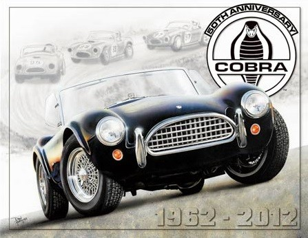 Blechschilder Shelby Cobra 50th