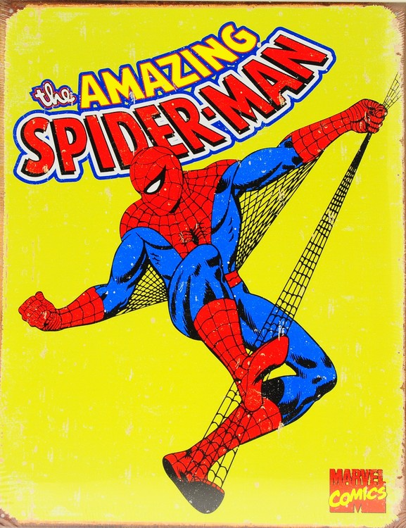 Metallschild SPIDER-MAN - vintage