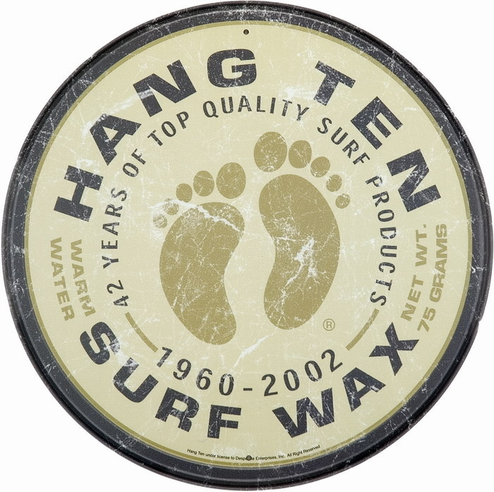 Metallschild SURF WAX