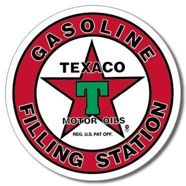 Metallschild TEXACO - filling station