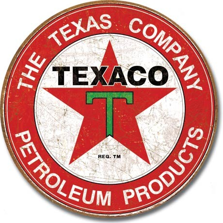 Metallschild TEXACO - The Texas Company