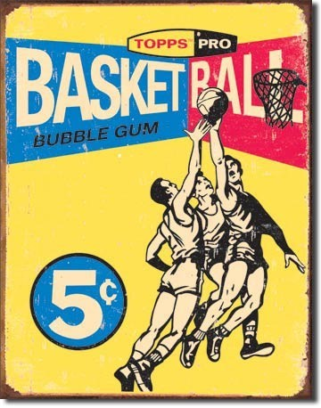 Metallschild TOPPS - 1957 basketball