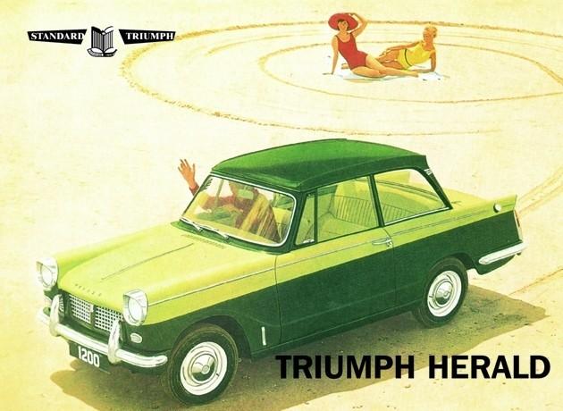 Metallschild Triumph herald