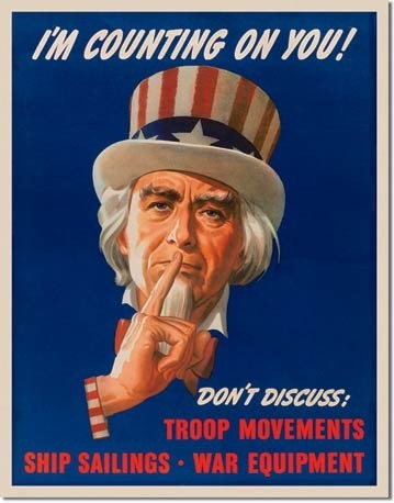 Metallschild UNCLE SAM - don't discuss