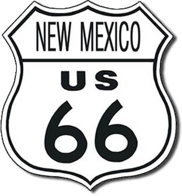 Metallschild US 66 - new mexico