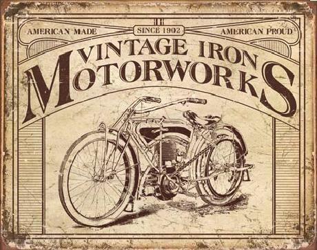 Blechschilder VINTAGE IRON MOTORWORKS