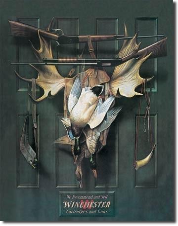 Metallschild WIN - brace of ducks