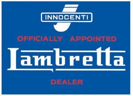 LAMBRETTA DEALER Metallskilt