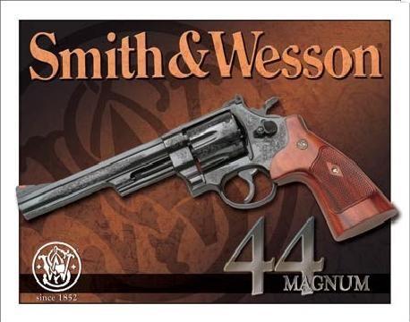 S&W - 44 magnum Metallskilt