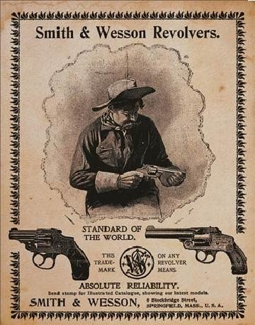 S&W - standard of the world Metallskilt