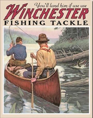 WIN - fishing tackle Metallskilt