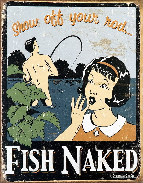 FISH NAKED Metalni znak
